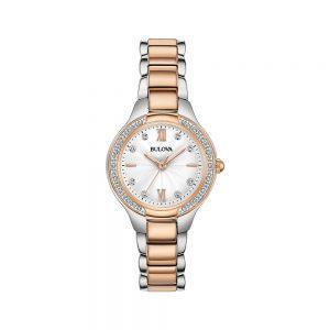 Bulova Orologio Solo Tempo Donna Diamanti 98R272