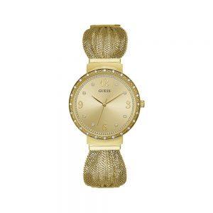 Guess Orologio Donna Solo Tempo in Acciaio Laminato Oro W1083L2