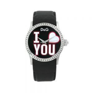 D&G Orologio Donna Solo Tempo con Cristalli e Cinturino in Pelle DW0146