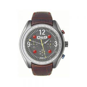 D&G Orologio Uomo Cronografo con Cinturino in Pelle DW0312