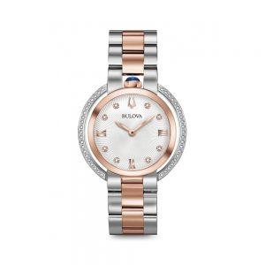 Bulova Orologio Donna Solo Tempo con Diamanti in Acciaio 98R247