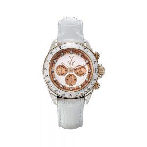 ToyWatch Orologio Donna Cronografo con Cinturino in Pelle TGLS01WH